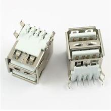 Dual USB 2.0 Type A 8 Pin Female Socket Connector