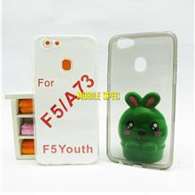 Oppo F5 Soft TPU Transparent Clear Slim Case