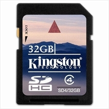 GENUINE Kingston 8GB 16GB 32GB SD SDHC Memory Card Class 4 SD4