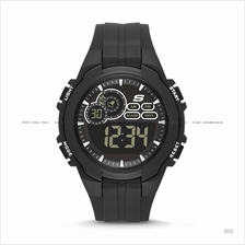 SKECHERS Watch SR1089 Men's Digital Sport Negative Silicone Black