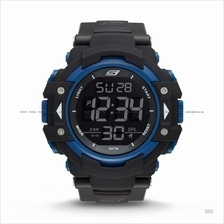 SKECHERS Watch SR1035 Men's Digital Sport Chrono Negative Nylon Black