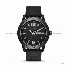 SKECHERS Watch SR5000 Men's 3-hand Day-Date Silicone Strap Black
