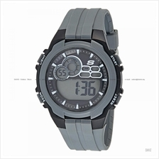 SKECHERS Watch SR1090 Men's Digital Sport Silicone Strap Grey