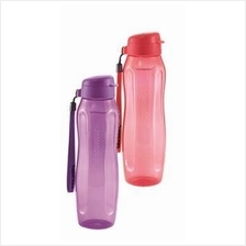 Tupperware  Slim Eco Bottle (2) 1L with Strap - Red & Purple