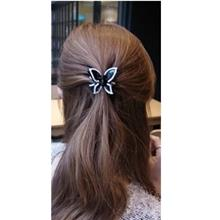Korea Rhinestone Crystal Butterfly Hair Jaw BLACK