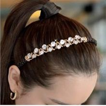Korea Beautiful Crystal Diamond Hair Band BLACK