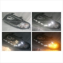 AUDI A4 B5 95 BLACK PROJECTOR HEADLAMP W LED