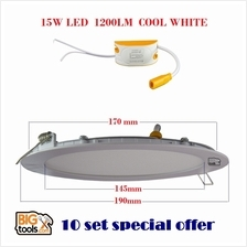 10Set SMD 15W 6 1200LM Led Panel Downlight Round LED Ceiling Recessed