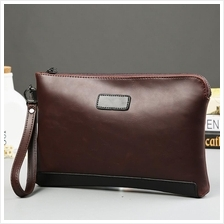 MEN Premium Leather Purse Wallet Pouch Clutch Bag Business Handbag 288 19a196176a