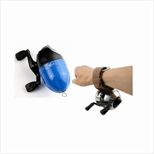 Blue Spinning Fishing Reel Spincast With Protective Wristband Gear