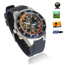 4GB Waterproof Spy Camera Watch with Hidden Camera + PC Camera + MP3 P