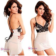 [S-3XL] Loveena Plus Size Lingerie Nightie Sleepwear PL8018