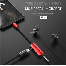 Rock Type C To Audio & Charge 2 in 1 Cable 3.5mm
