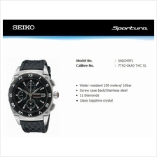 SEIKO . SNDZ45P1 . Sportura . W . Chrono . Diamonds . LSB Quartz Black
