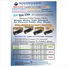 Ricoh Aficio SP C220/221/222/240 Compatible CMYK Toner Cartridge