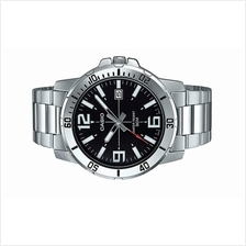 Casio Men Analog Stainless Steel Date Watch MTP-VD01D-1B