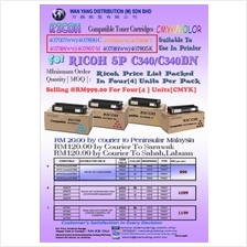 RICOH SP C340/C340DN Compatible CMYK Toner Cartridge