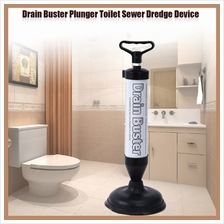 Powerful Manual Drain Buster Plunger Toilet Sewer Dredge Device Inflator