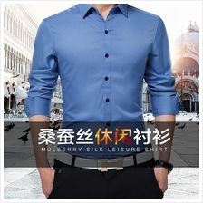 Spring Summer Slim Fit Casual Long Sleeve Shirt