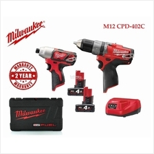 Milwaukee M12 FUEL Compact 2-Speed Percussion Drill Combo Set