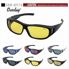 bea169854a60 4GL IDEAL 588-8976 Fit Over Overlap Polarized Sport Sunglasses UV 400