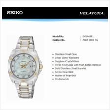 SEIKO . SXDA68P1 . VELATURA . W . Date . Diamonds . SSB . Quartz . MOP