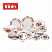 Riino Blossom 45pcs Tableware Set Melamine Dish Plate Tea Set