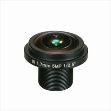 "1.7mm Fisheye Lens HD 5.0 Megapixel M12 Mount 1/2.5"" F2.0 For CCTV"