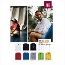 ORHC09. Unisex Collar Long Sleeve Polo T-Shirt
