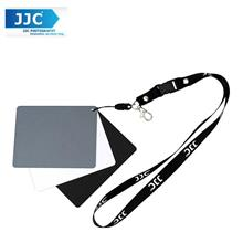 JJC GC-3 Set of 3 Digital Grey white balance card strap and lanyard