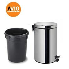 STAINLESS STEEL DUSTBIN ADS20C 20L SLOW CLOSE HOTEL HOME OFFICE