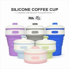 Portable Collapsible Silicone Folding Coffee Cup Travel Camping 350ml