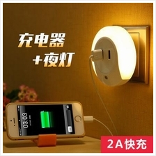 Small Night LED Light with USB port