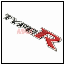 GENUINE HONDA TYPE-R Rear Trunk Stainless Steel 3D Logo Wording Emblem