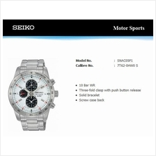 SEIKO . SNAC05P1 . Motor Sports . M . Chrono . SSB . Quartz . White