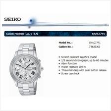 SEIKO . SNAC77P1 . Classic Modern . M . Chrono . SSB . Quartz . Silver