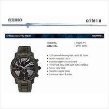 SEIKO . SNDY07P1 . CRITERIA . W . Chronograph . SSB . Quartz . Black