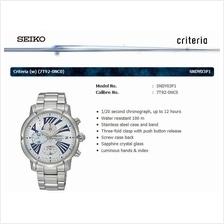 SEIKO . SNDY03P1 . CRITERIA . W . Chronograph . SSB . Quartz . Silver