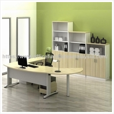 6ft Modern Design Executive Desk Side Cabinet Set OFBM55SET1