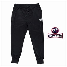 CHALLENGER BIG SIZE Polyster Tricot Track Long Rib Bottom CH6042 (Black)