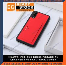 DUX DUCIS POCARD PU LEATHER TPU CARD BACK COVER FOR HUAWEI P20