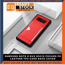 DUX DUCIS POCARD PU LEATHER TPU CARD BACK COVER FOR SAMSUNG NOTE 8