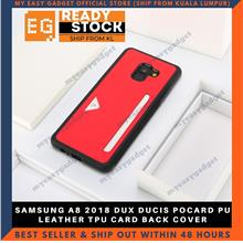 DUX DUCIS POCARD PU LEATHER TPU CARD BACK COVER FOR SAMSUNG A8 2018