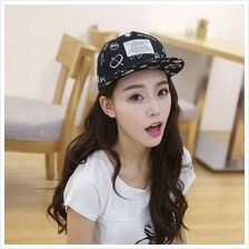 Korean Pop Same Paragraph Graffiti Baseball Cap Along The Street Dance Hat Hip