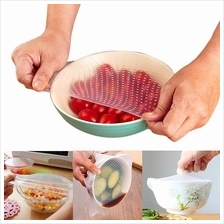 3Pcs Silicone Food Wraps Kitchen Seal Cover Stretch and Fresh Tools