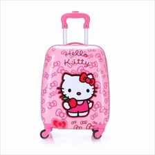 b0b81f58de4 Kids Travel Trolley luggage Cartoon Design Kitty Trolley Luggage 4Whee