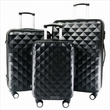 SKY TRAVELLER SKY281 Premium ABS 3-in-1 Hard Case Diamond Luggage with 8 Wheel