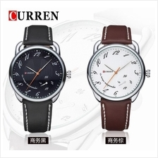 Curren 8147 Men's Fashion Genuine Leather Watch