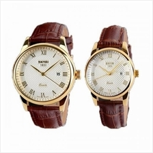 SKMEI 9058 Classic Calendar Leather Watch