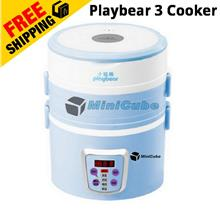 Playbear 3 layer Automatic Electric Steamer / Rice cooker / Lunch box